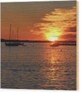 Sun's Up Provincetown Pier 3 Wood Print