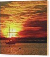 Sun's Up Provincetown Pier 4 Wood Print