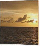 Sunset - Gulf Of Mexico Wood Print