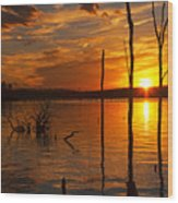 sunset @ Reservoir Wood Print