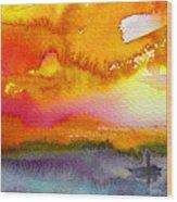 Sunset 02 Wood Print