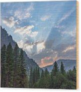 Sunset 1 Yosemite  Wood Print