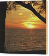Sunset 2 Wood Print by Megan Cohen