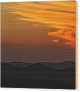 Sunset-3 Wood Print by Fabio Giannini