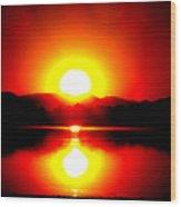 Sunset 3 Wood Print by Travis Wilson
