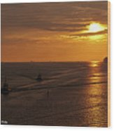 Sunset - 34 Wood Print