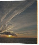 Sunset - 38 Wood Print