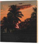 Sunset - 46 Wood Print