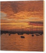 Sunset 4th Of July Wood Print