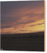 Sunset - 50 Wood Print