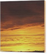 Sunset - 52 Wood Print