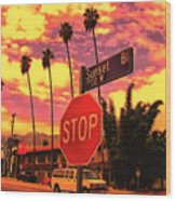 Sunset 7700w Wood Print
