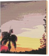 Sunset Abstract Wood Print