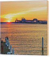 Sunset Across The Chesapeake Wood Print