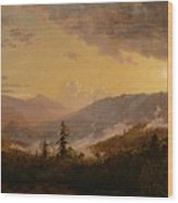 Sunset After A Storm In The Catskill Mountains Wood Print
