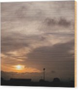 Sunset Ahuachapan 11 Wood Print