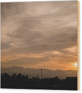 Sunset Ahuachapan 12 Wood Print