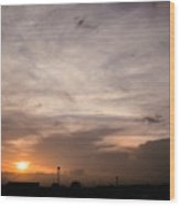 Sunset Ahuachapan 14 Wood Print