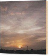 Sunset Ahuachapan 19 Wood Print