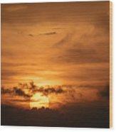 Sunset Ahuachapan 24 Wood Print