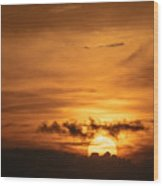 Sunset Ahuachapan 27 Wood Print