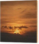 Sunset Ahuachapan 31 Wood Print