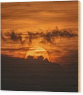 Sunset Ahuachapan 33 Wood Print