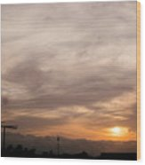 Sunset Ahuachapan 7 Wood Print