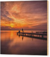 Sunset Albufera 2 Wood Print