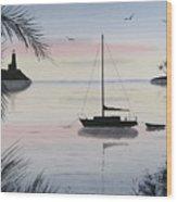Sunset Anchorage 4 Wood Print