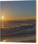 Sunset And The Sea - Cape May New Jersey Wood Print