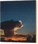 Sunset Anvil Wood Print