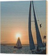 Sunset Apex Wood Print