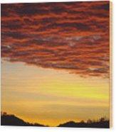 Sunset Art Prints Canvas Orange Clouds Twilight Sky Baslee Troutman Wood Print