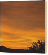 Sunset Art Prints Orange Glowing Western Sunset Baslee Troutman Wood Print