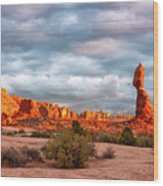 Sunset At Arches National Park 16x9 Wood Print