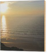 Sunset At Blacks Beach Wood Print