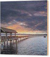Sunset At Boulevard Park In Bellingham Washington Wood Print
