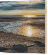 Sunset At Brewster Flats Wood Print