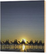 Sunset At Cable Beach Wood Print