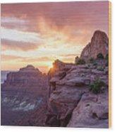 Sunset At Canyonlands Wood Print