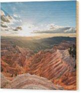 Sunset At Cedar Breaks Wood Print