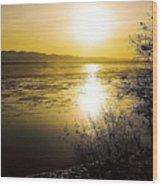 Sunset At Cook Inlet - Alaska Wood Print