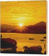 Sunset At Coron Bay Wood Print