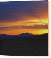 Sunset At Coronado National Memorial Wood Print
