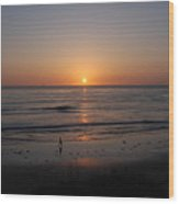 Sunset At Eljio Beach California Wood Print