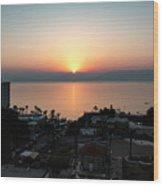 Sunset At Galilee Wood Print