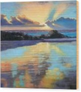 Sunset At Havika Beach Wood Print by Janet King