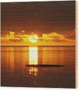 Sunset At Horseshoe Beach - Debbie-may Wood Print