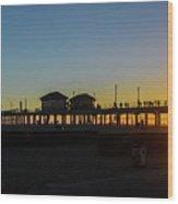 Sunset At Huntington Beach Wood Print